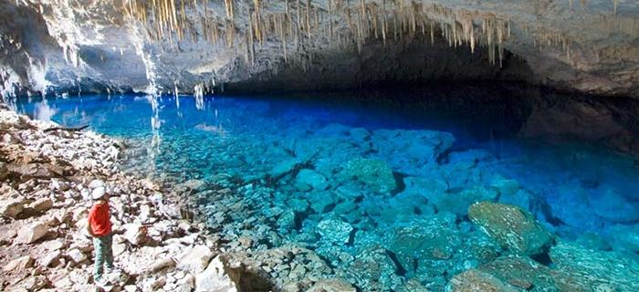 Gruta do Lago Azul em Bonito